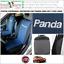 miniatura 1 - COPPIA COPRISEDILI Anteriori FIAT PANDA 2003>2011 Con Logo! Foderine Azzurro 39