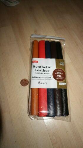 Artesanía de cuero sintético coágulo de corte 20cm 20cm 5 un 2 tipo natural básico Daiso