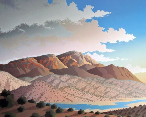 """2 options event poster /""""Edge of Light/"""" 18.375/""""h x 24.8 image Doug West"""