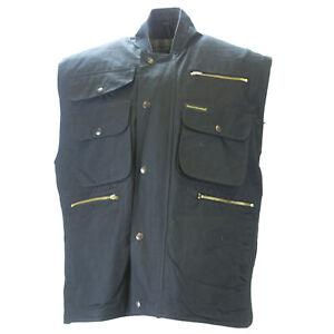 Outback Trading Company Homme Noir Overlander Cape Gilet Sz Xl $132 Neuf Sans Original Balises-afficher Le Titre D'origine