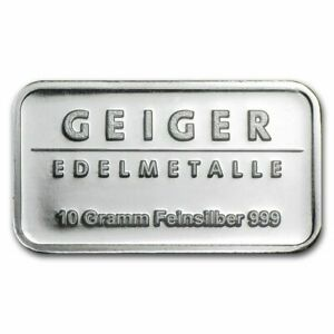 Germany-Geiger-10gr-999-Fine-Silver-Bullion-039-Schloss-Guldengossa-039-Sealed-amp-UNC