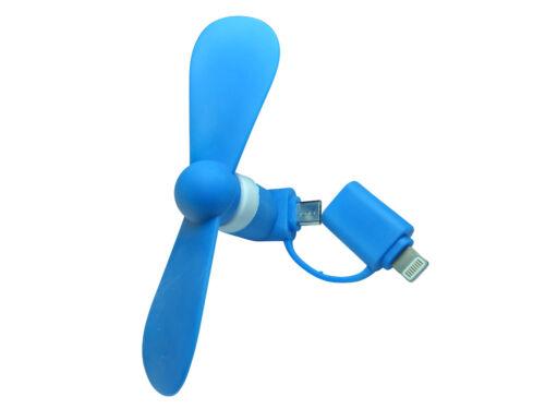 2in1 Micro USB e iPhone Smartphone Ventilatore mini fan OTG ANDROID CELLULARE COOL
