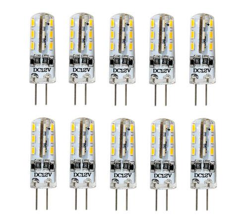 10 Stk G4 DC12V 24 3014 SMD LED Lampe Licht Leuchtmittel Leuchte Birne Warmweiß