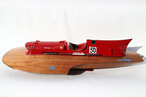 "Ferrari Hydroplane Ship Model 35"" - Handmade Wooden Ship ..."