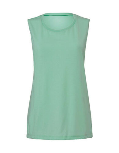 Bella Damen Tank Top Shirt Flowy Scoop Muscle tiefer Ärmelansatz S M L XL Neu