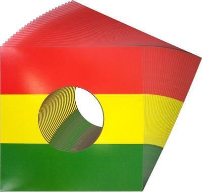 "07jwreghh Reggae Rastafari 7"" Colored Record Jackets Covers Vinyl Singles Responsible 250"