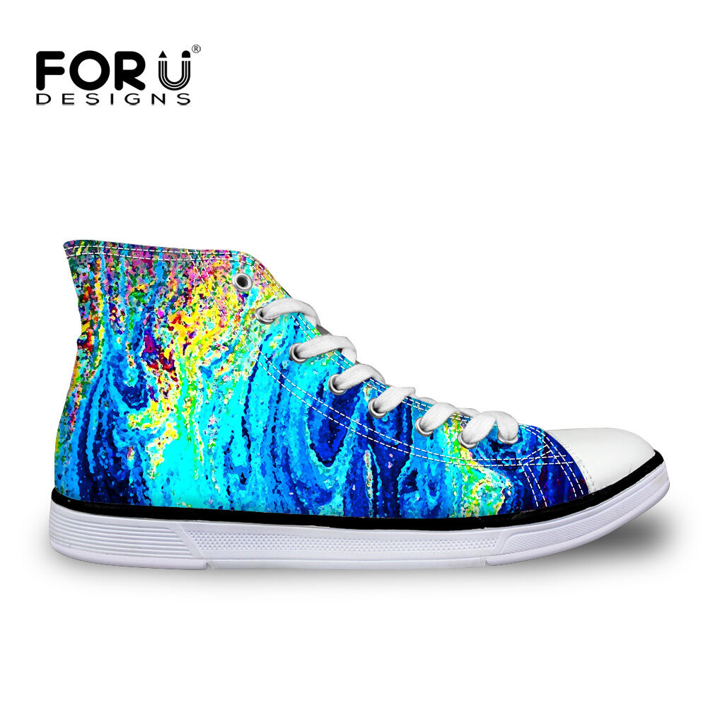 Women High Quality Ladies Girls Canvas shoes High Top Winter Lace up Sneakers