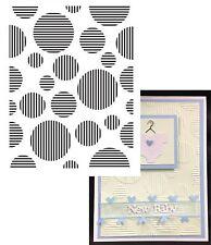 CIRCLE & STRIPES embossing folder ULT157117 Ultimate Crafts embossing folders