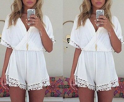 New Women Clubwear Lady V-Neck Playsuit Bodycon Party Jumpsuit & Romper Trousers