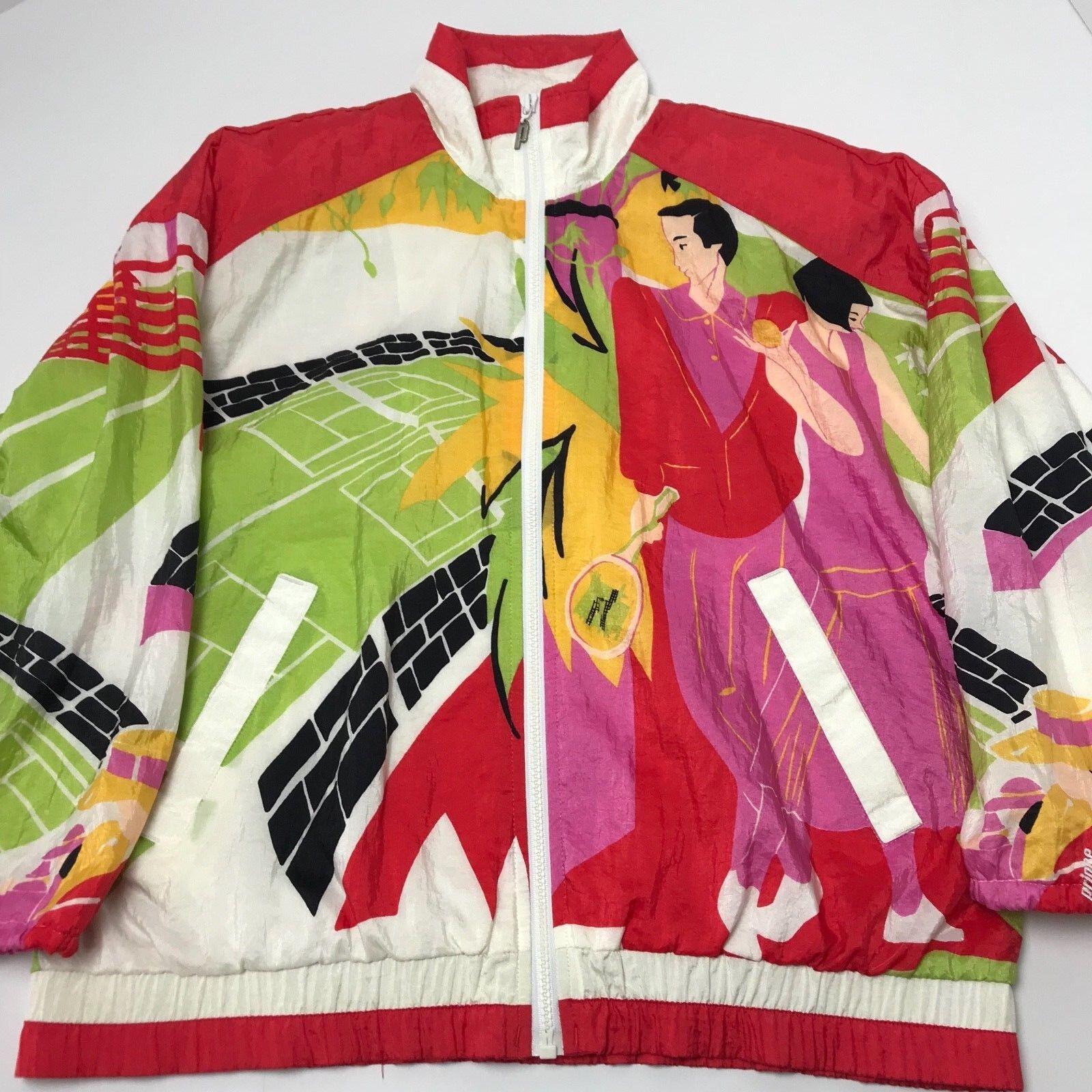 Vintage Prince Sportswear Tennis Windbreaker All Over Print 80s 90s Small