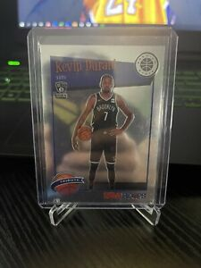 2019-20 NBA Hoops Premium Stock Kevin Durant Tribute Silver Prizm Nets #284
