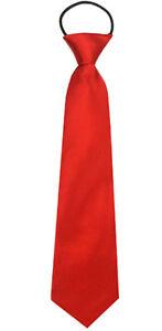 Kinder-Krawatte-ROT-Kinderkrawatte-Hochzeit-Einschulung-Junge-gebunden