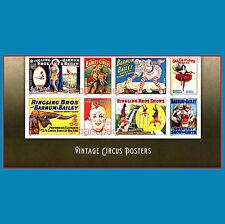 4898-4905b Vintage Circus Posters Imperf Bottom Half Pane 8 Designs No Die Cuts