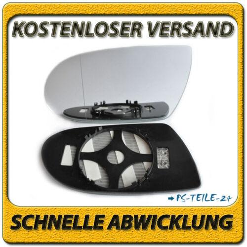 Miroir de verre pour mercedes sl r230 06-08 gauche asphärisch chauffable rétroviseurs extérieurs
