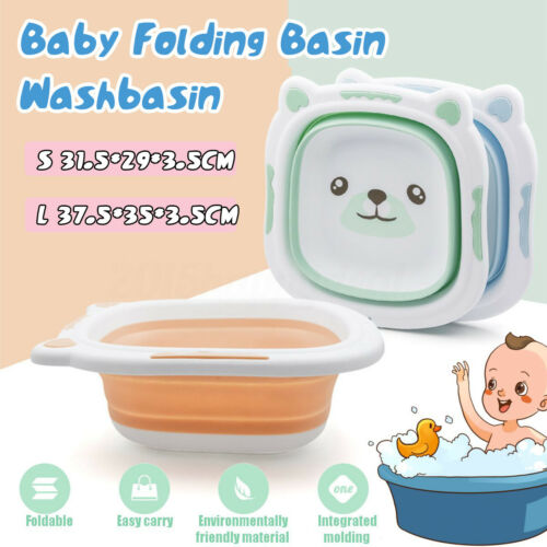 Baby Washbasin Foldable Kid Portable Cute Cartoon Multi-Purpose Folding Basin SL