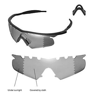 8fede951126 Details about Polarized Transition Vented Replacement+Black Nosepads For  Oakley M Frame Hybrid