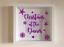 IKEA RIBBA Box Frame Personalised Vinyl Wall Art Christmas at the Family Name