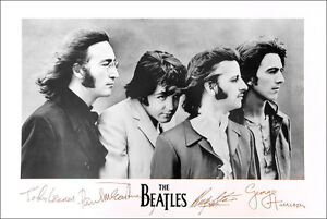 Image Is Loading BEATLES John Paul George Ringo Famous Signatures Poster