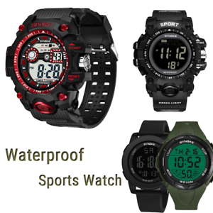 SYNOKE-Men-039-s-Multi-Function-Military-Sports-Watch-LED-Digital-Waterproof-Watch
