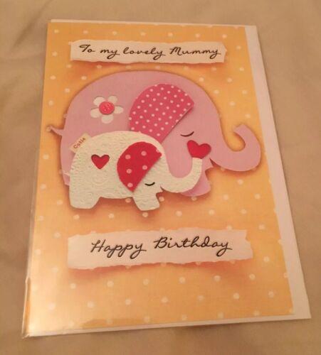"""Brand New /""""à ma belle momie joyeux anniversaire/"""" carte scellé Salutations Hotch nommée"""