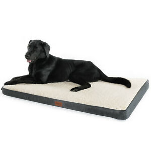Bedsure-Orthopedic-Dog-Bed-Mattress-Washable-Dog-Cushion-Mat-Grey-Pet-Blanket