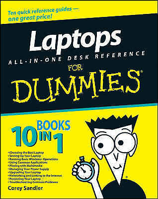 Sandler, Corey, Laptops All-in-One Desk Reference For Dummies, Very Good Book