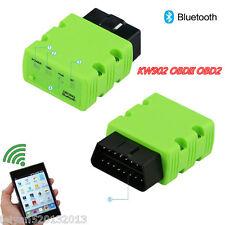Green KW902 ELM327 OBDII Bluetooth OBD2 Interface Scanner Car Diagnostic Tool