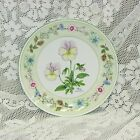 """AYNSLEY WILD TUDOR PANSY COUPE ACCENT SALAD PLATE ENGLAND 8 1/4"""" FLORAL"""