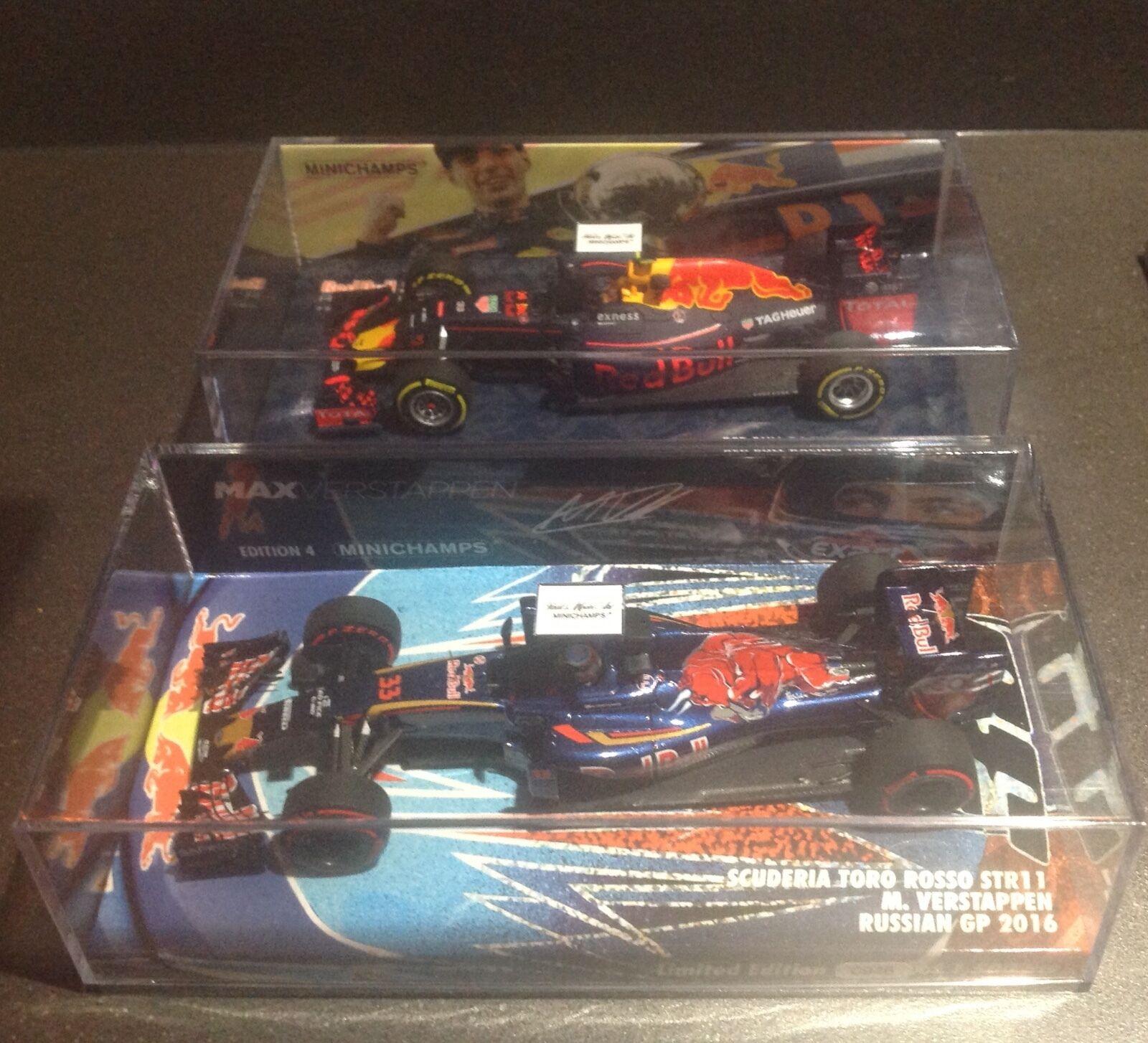 Minichamps 1 43 Max Verstappen edition 4 Russia & First WIN Spanish GP Ltd ed.