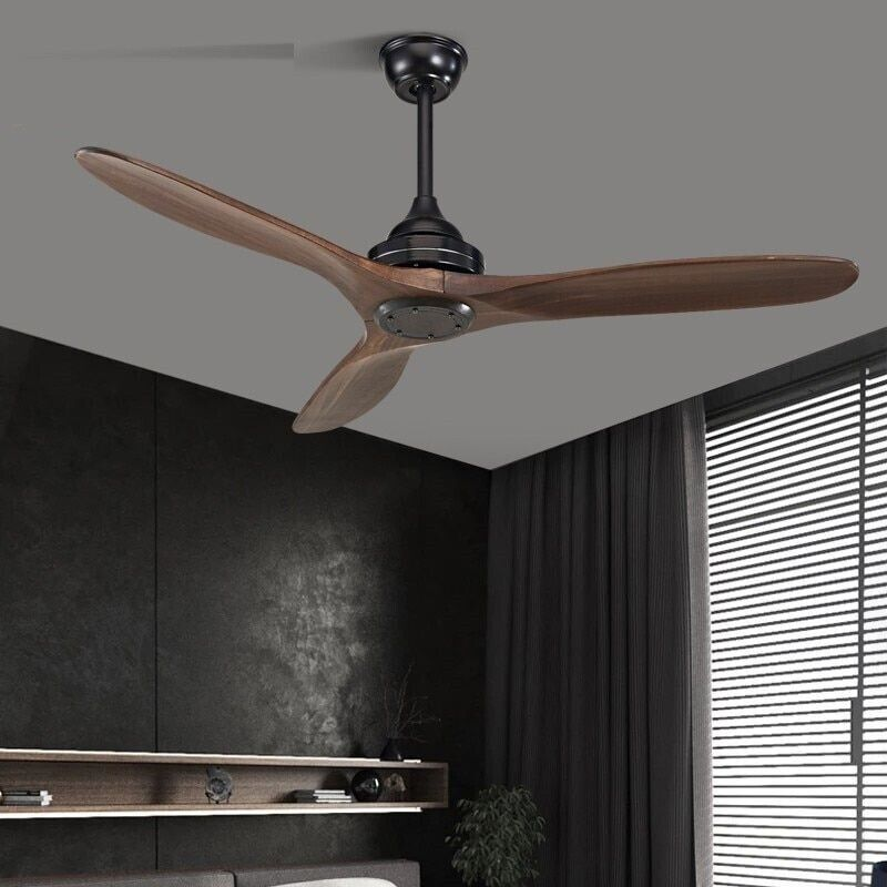 Remote Control Wooden Ceiling Fans Industrial Vintage Without Light Decor 220v
