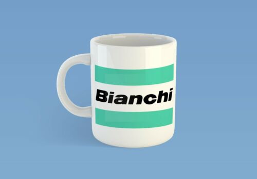 Bianchi Mug Cycling Vintage Cup Bike T-Shirt Top Retro Jersey NEW Printed Retro