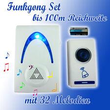 100M Funk Klingel Türklingel Türgong Gong Funkgong 32 Melodien Türglocke 503AD