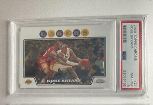 2008 Topps Chrome Kobe Bryant w/ Lebron James PSA 8