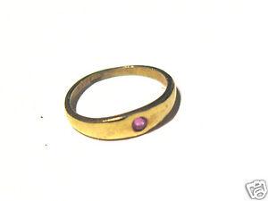 Goldring mit rotem stein  Baby Taufring Goldring 333er Gold Ring mit rotem Stein Gelbgold ...