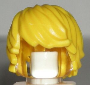 lego yellow boy minifig hair blonde surfer tousled