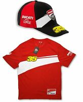 VALUE T-SHIRT & CAP MotoGP Bike Ducati Corse Cal Crutchlow No35 NEW Red US
