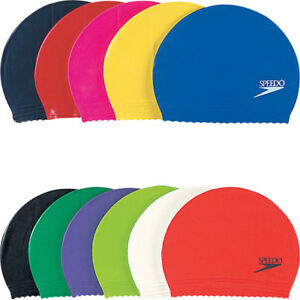 f968b316d43 Image is loading Speedo-Plain-Moulded-Junior-Silicone-Swimming-Cap-8-