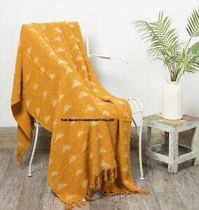 Rouille mudcloth jeter canapé décor main Loom Couverture Boho Hand Block Print Throw