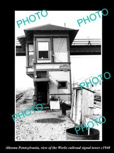 OLD-LARGE-HISTORIC-PHOTO-OF-ALTOONA-PENNSYLVANIA-THE-WORKS-RAILROAD-TOWER-c1940
