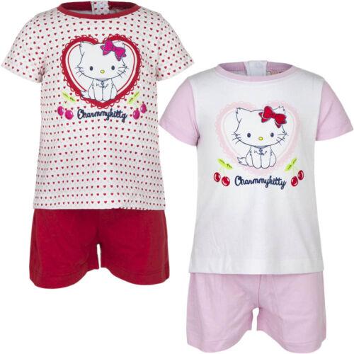 Breve Pyjama Set SONNO TUTA RAGAZZA CHARMMY KITTY BIANCO ROSSO ROSA 67 74 81 86 #55
