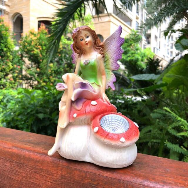 Fairy Garden Angel Statue Wings Lawn