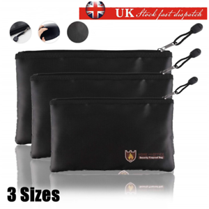 Fireproof Fire Resistant Document Bag Envelope Pouch For Passport File Photo