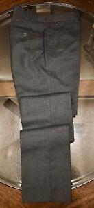 d21c85b030 Ralph Lauren Purple Label Pants 100% Wool   Leather CHARCOAL Size 32 ...