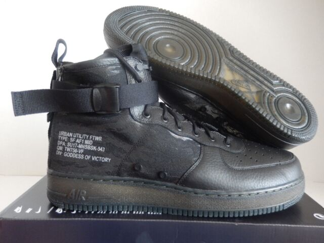sports shoes afad5 a9ada Nike Air Force 1 SF Mid Sz 15 QS Special Field Tiger Camo Aa7345-001 Black  3m