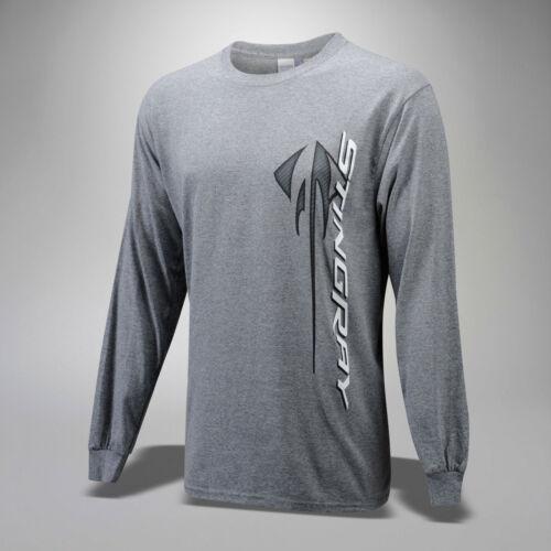 2014-2019  Corvette C7 Mens Long Sleeve Shirt with Stingray Logo and Script