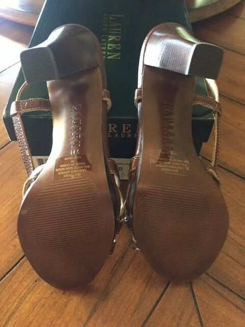 New in Box    Ralph Lauren Leisel Leisel Leisel Tan Strappy Platform shoes 7B Comfortable 30dd76