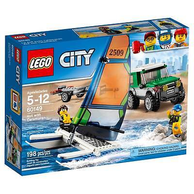 LEGO CITY 60149 4x4 WITH CATAMARAN TRUCK SAIL BOAT NEW SEALED PRIORITY MAIL