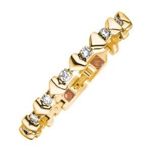 Magnetix-Armband-Gliederarmband-4560-Herzen-Zirkonia-Breite-6mm-Magnetschmuck