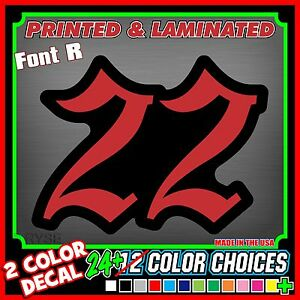 Custom Racing Number Plate Vinyl Decals Go Kart Snowmobile Dirt - Custom vinyl decals numbers