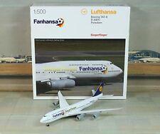 """Herpa Wings Lufthansa """"Fanhansa"""" B747-8 (NG) 1/500"""